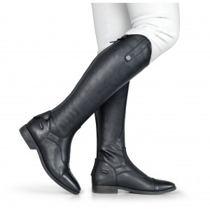 4412 Como V2 Long Laced Front Riding Boots Black